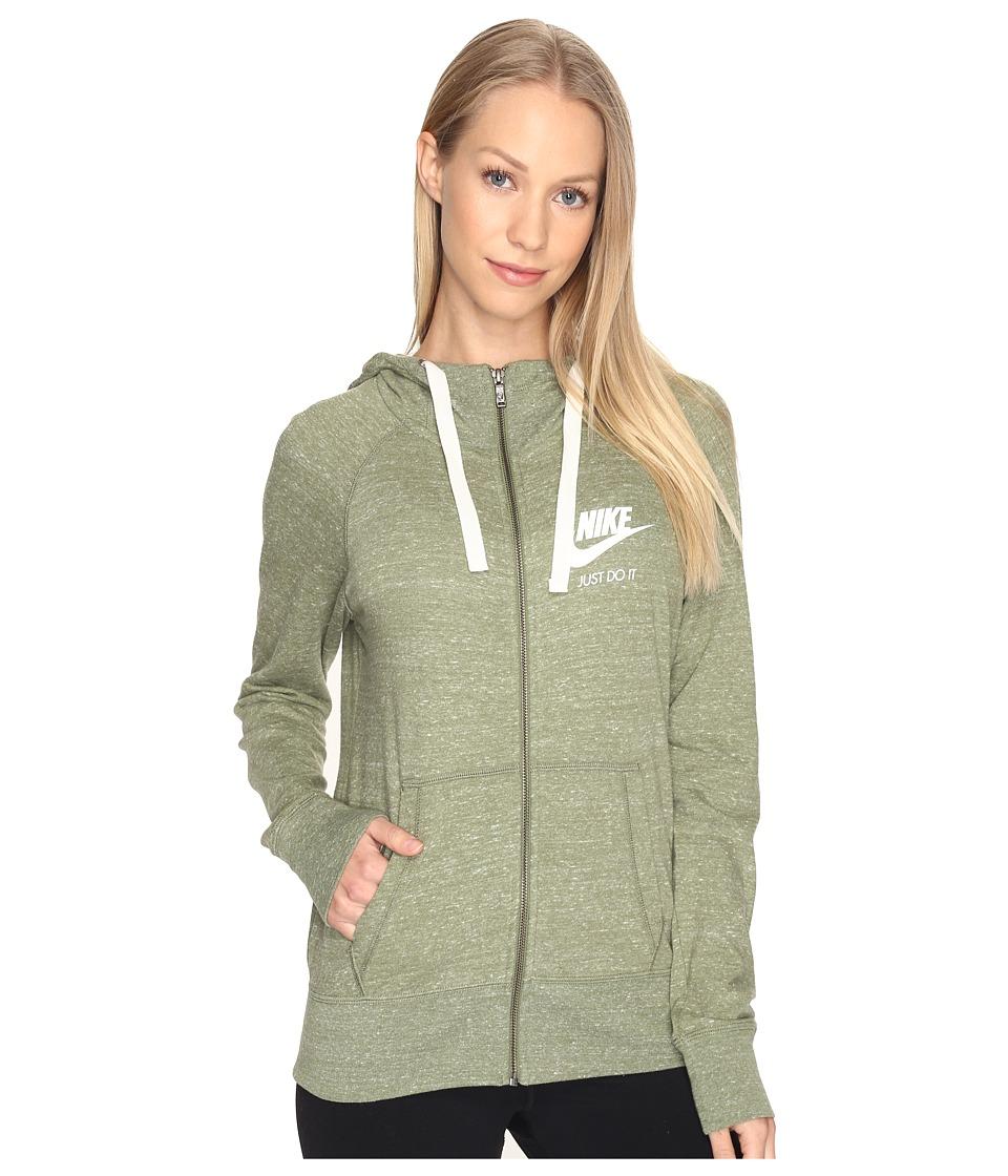 Nike Gym Vintage Full Zip Hoodie (Palm Green/Sail) Women