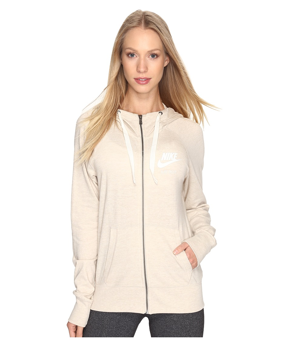 Nike Gym Vintage Full Zip Hoodie (Oatmeal/Sail) Women