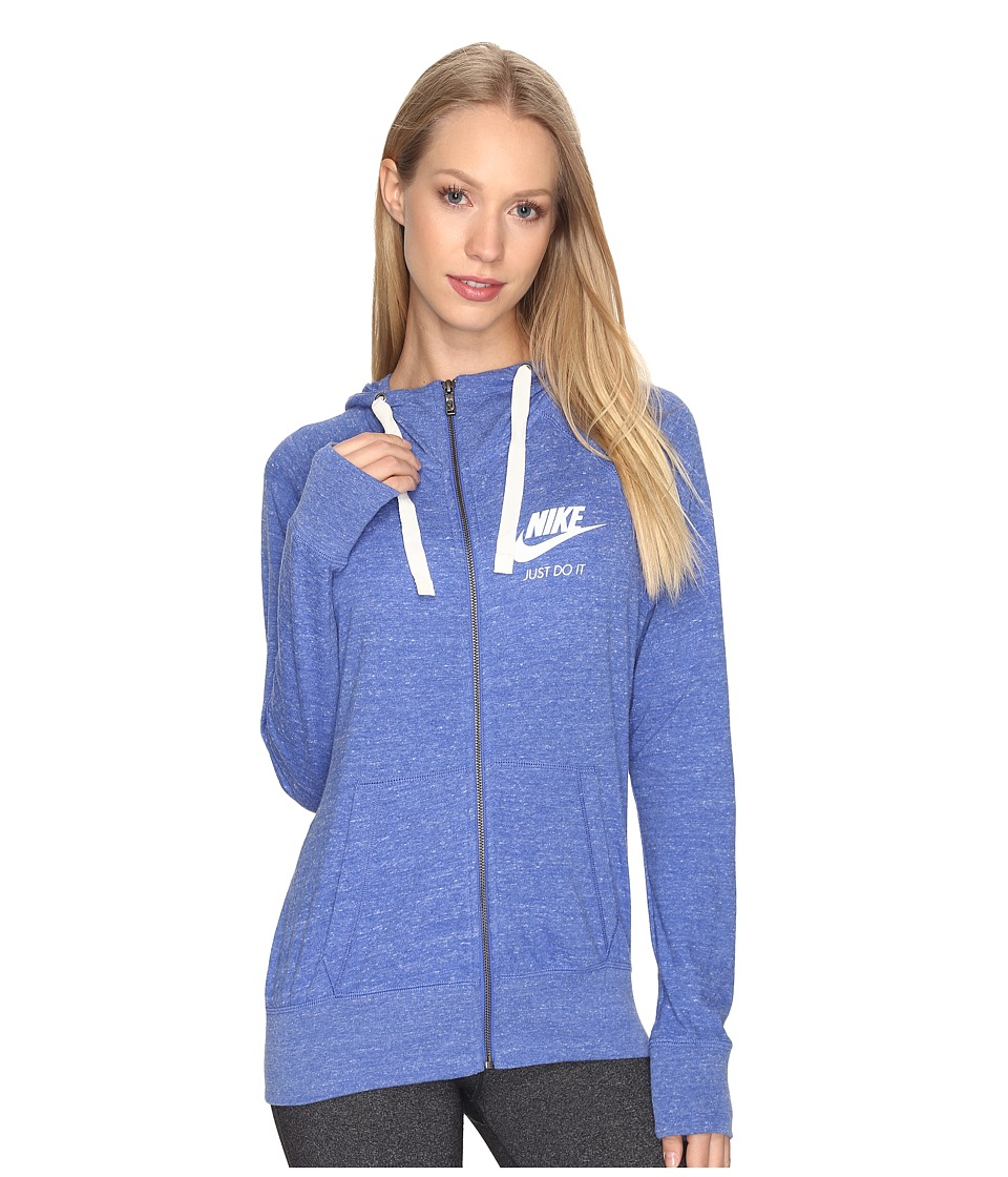 Nike Gym Vintage Full Zip Hoodie (Comet Blue/Sail) Women