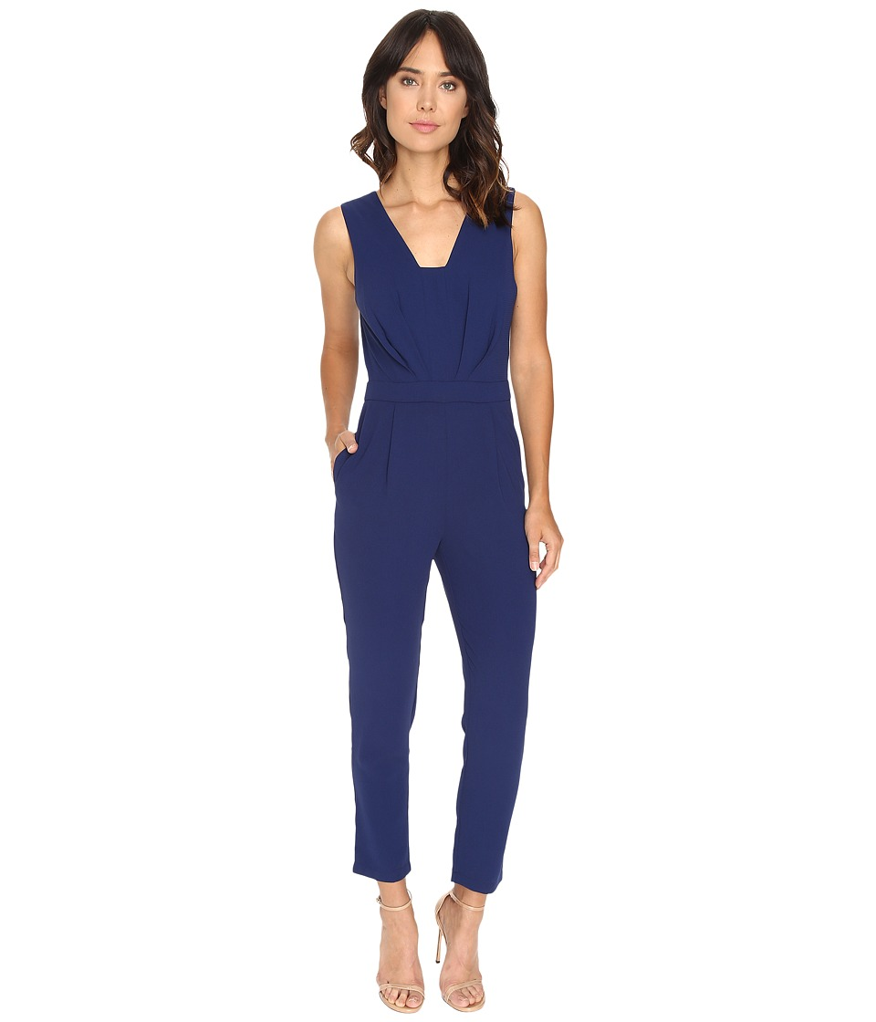 Adelyn Rae - Woven Sleeveless Jumpsuit (Navy) Women's Jumpsuit & Rompers One Piece