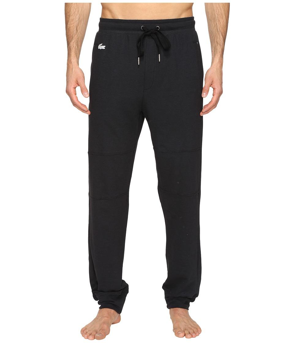 Lacoste - Double Face Lounge Pants (Black) Mens Pajama