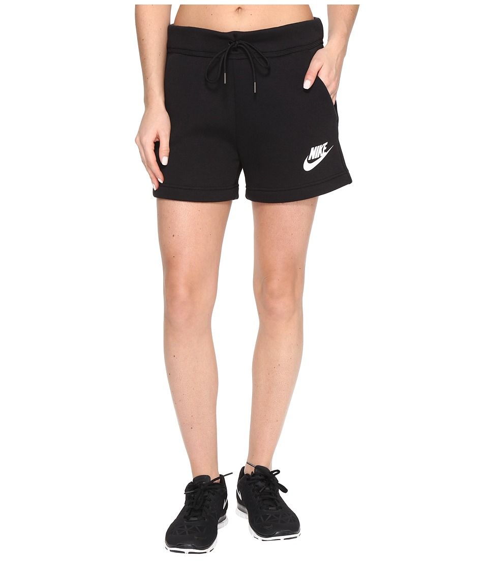 Nike Rally Short (Black/Black/White) Women