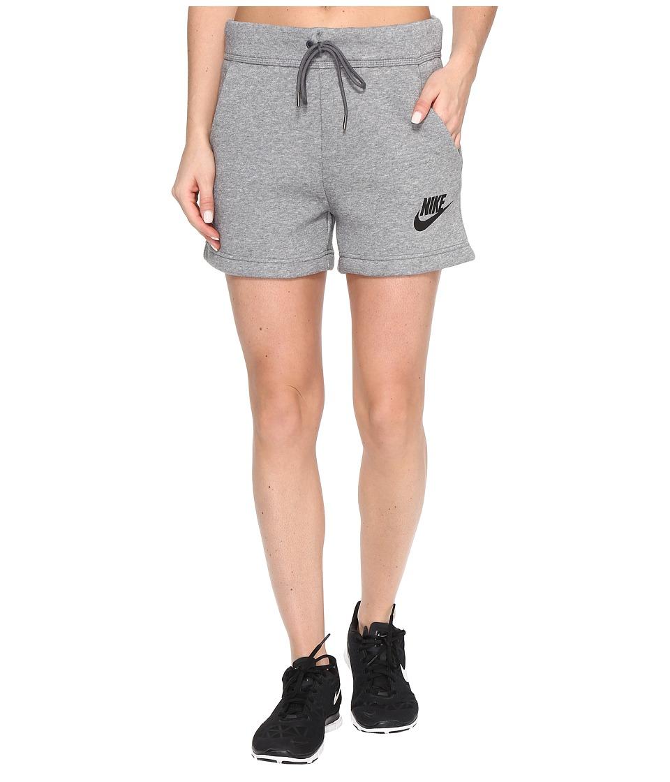 Nike Rally Short (Carbon Heather/Dark Grey/Black) Women