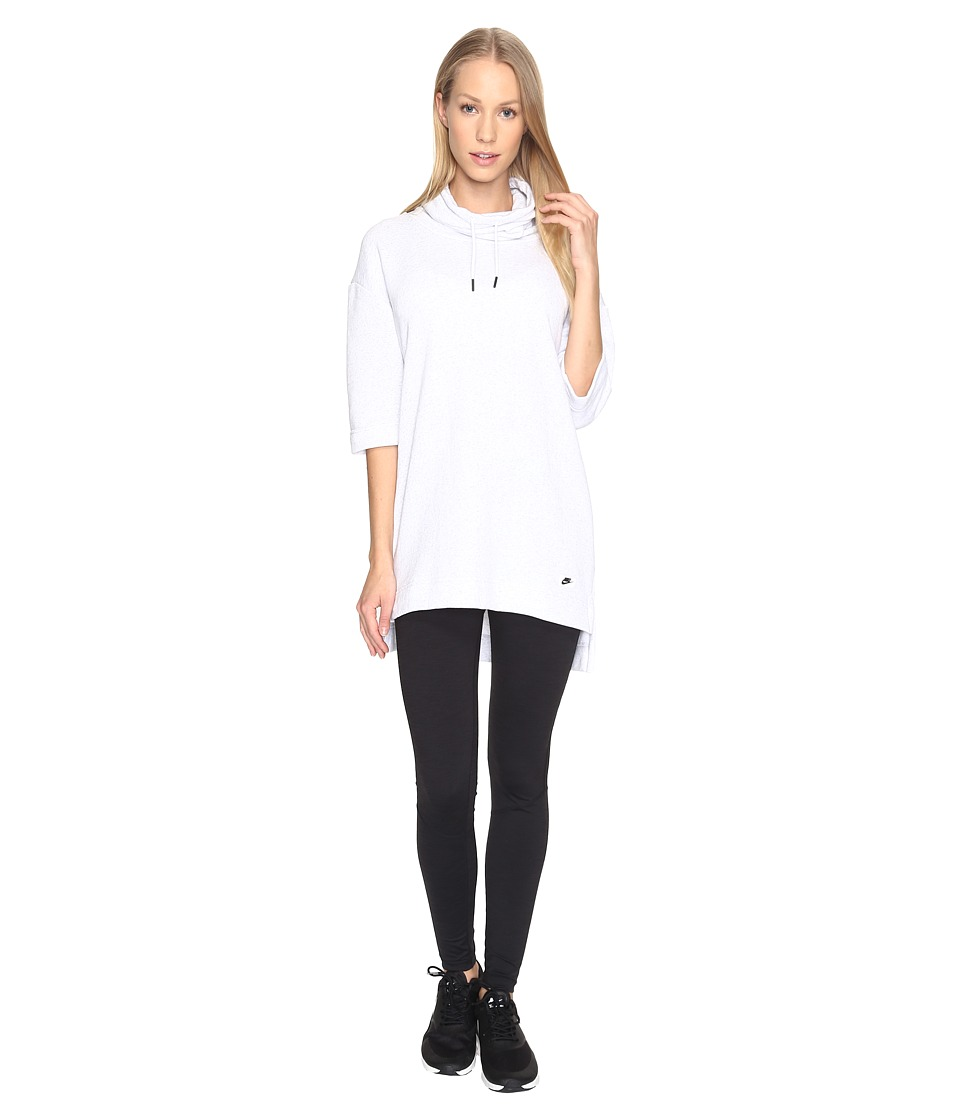 Nike - Sportswear Modern Top (Birch Heather/White) Women's Clothing