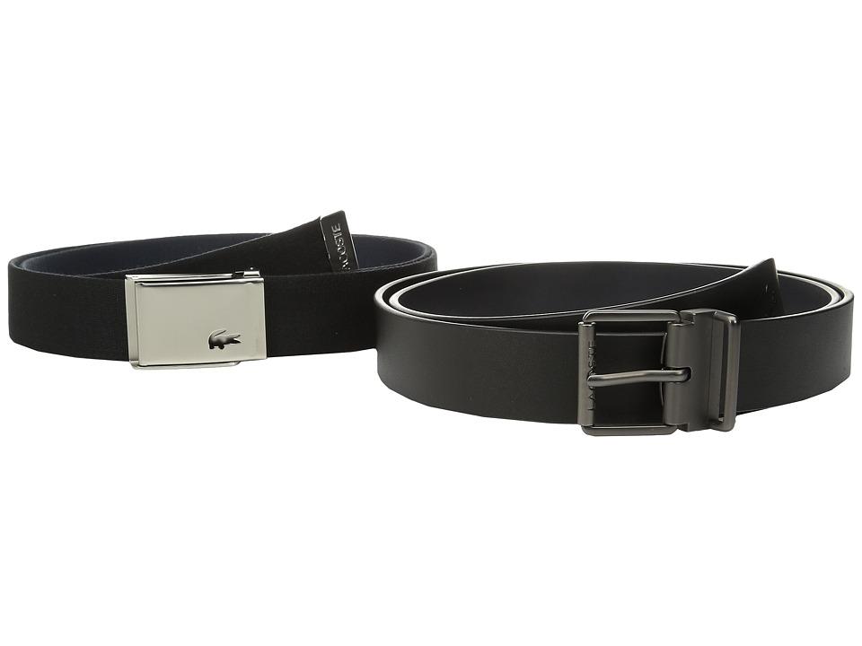 Lacoste - Sportswear Tonal Croc Belt (Black/Navy) Men