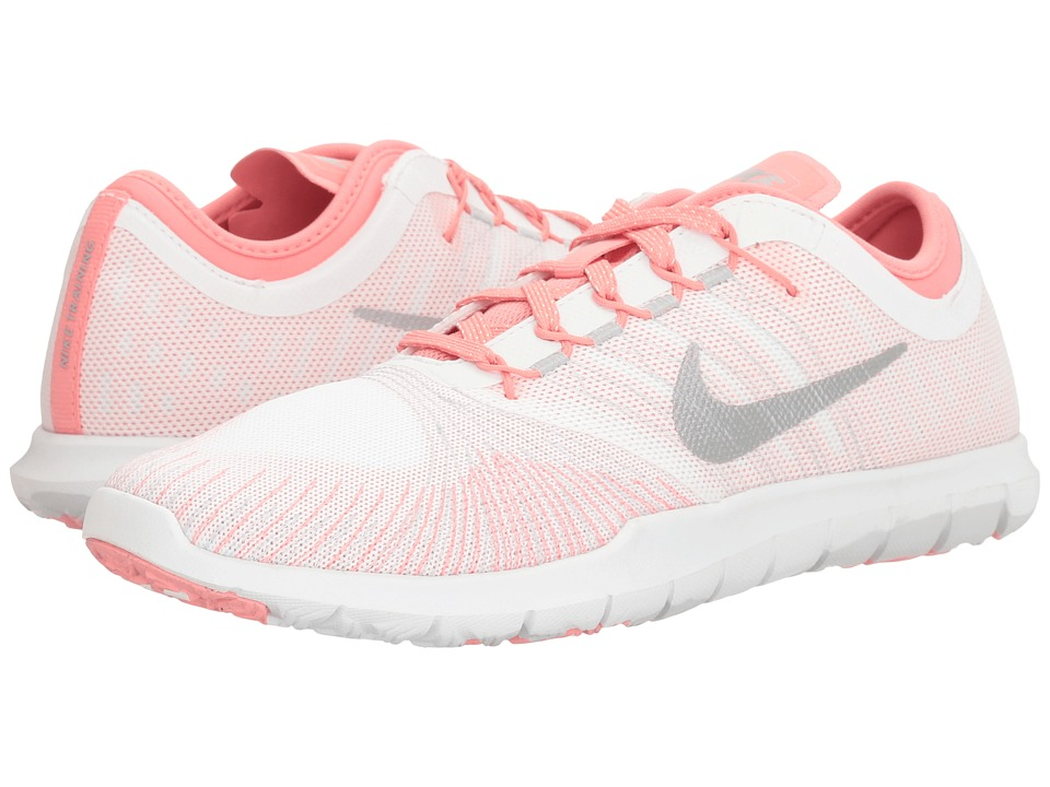 Nike Flex Adapt Training Shoe (White/Matte Silver/Bright Melon) Women