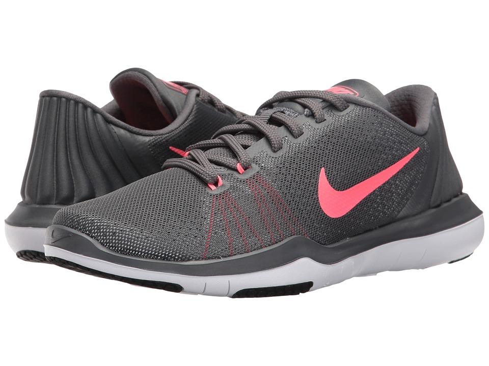 Nike Flex Supreme TR 5 (Dark Grey/Hot Punch/White/Black) Women