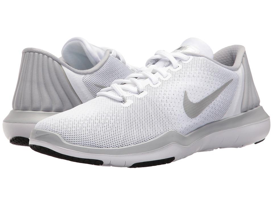 Nike Flex Supreme TR 5 (White/Metallic Silver/Wolf Grey/Stealth) Women