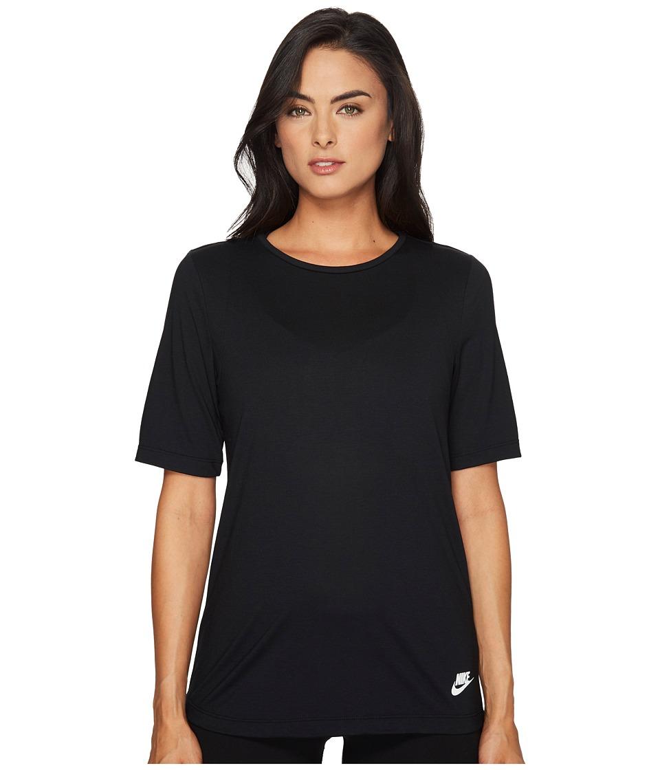 Nike Sportswear Essential Tee (Black/Black/White) Women