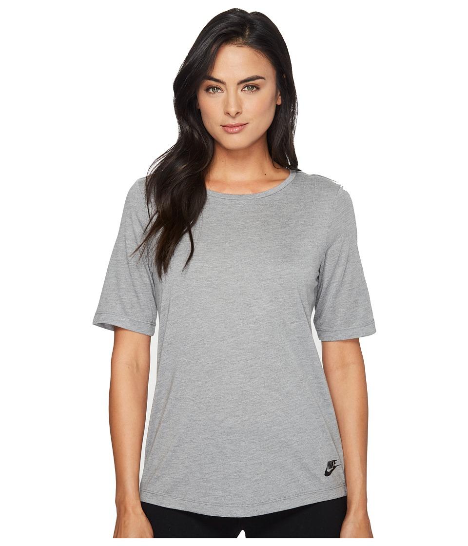 Nike Sportswear Essential Tee (Carbon Heather/Anthracite/Black) Women