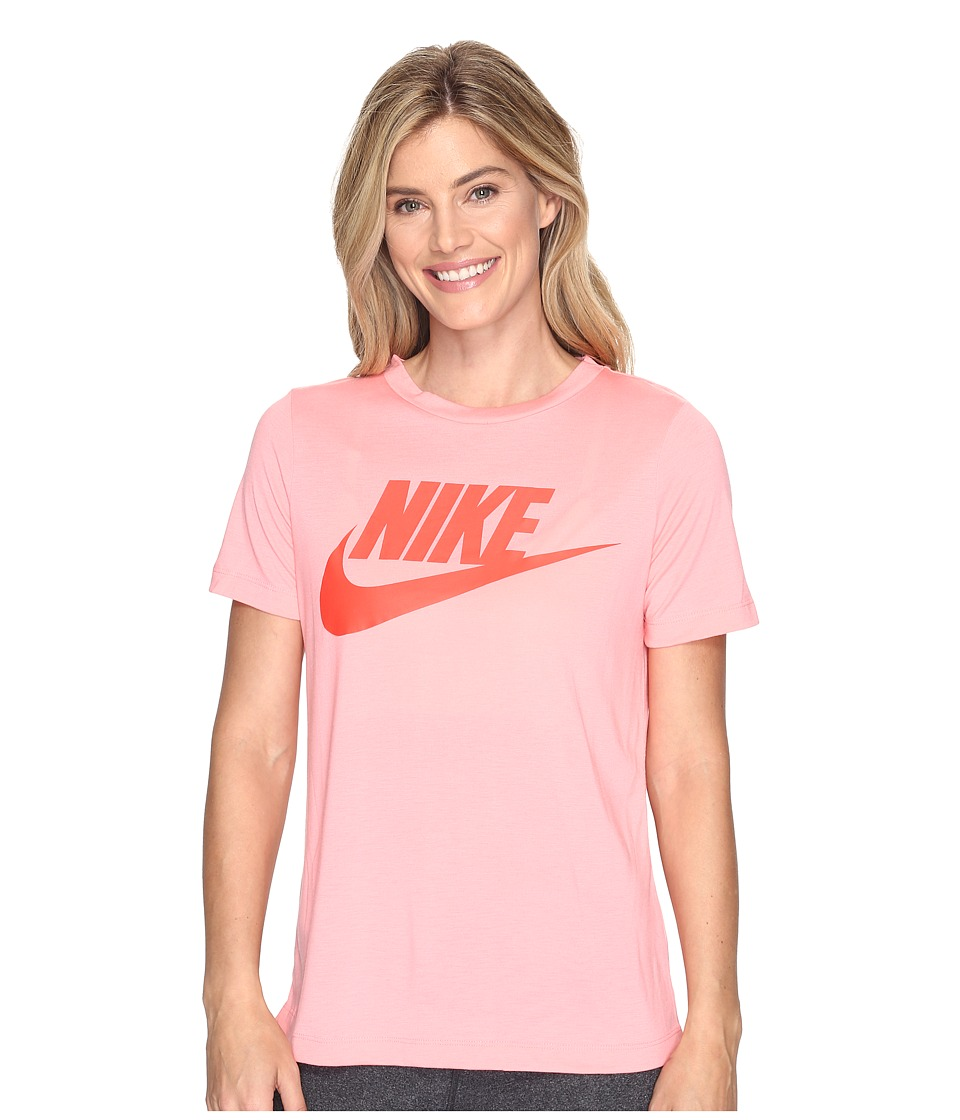 Nike Sportswear Essential Short Sleeve Top (Bright Melon/Bright Melon/Max Orange) Women