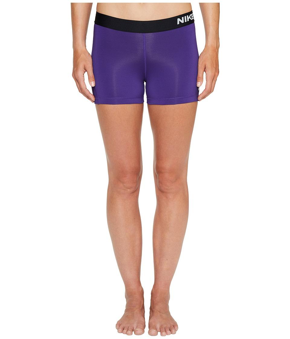 Nike Pro 3 Cool Compression Training Short (Court Purple/Black/White) Women