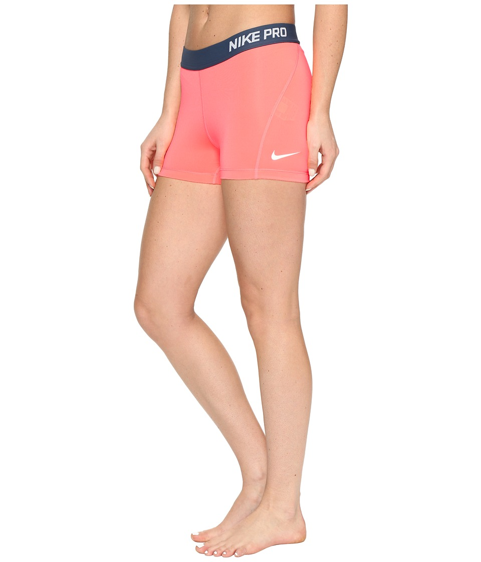 Nike Pro 3 Cool Compression Training Short (Lava Glow/White) Women
