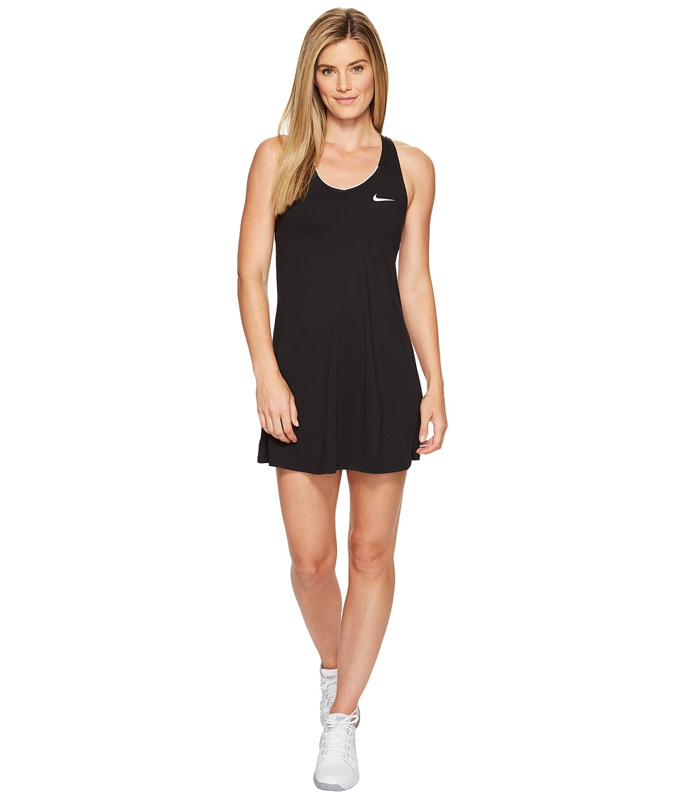 Nike Court Dry Tennis Dress (Black/White) Women