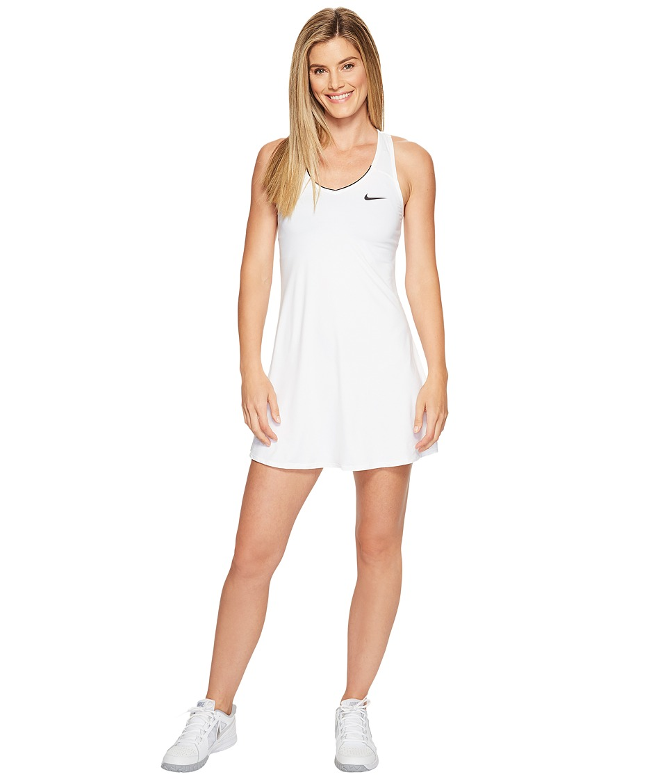 Nike Court Dry Tennis Dress (White/White/White/Black) Women