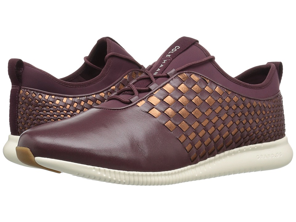 Cole Haan - 2.0 Studiogrand Weave Trainer (Deep Berry Leather/Neoprene/Deep Copper Metallic Leather/Ivory) Women
