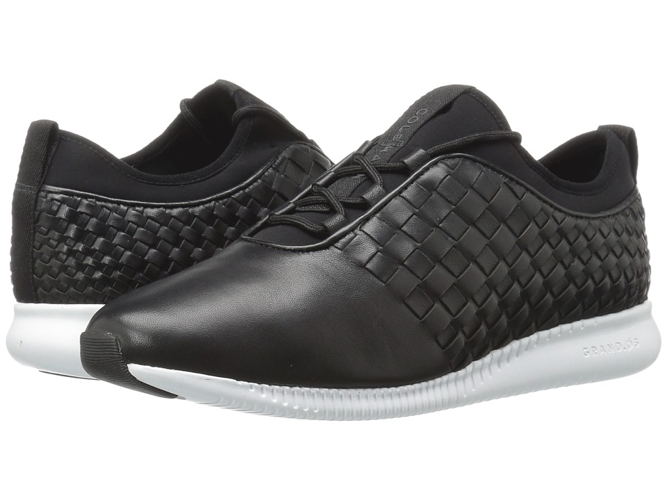 Cole Haan - 2.0 Studiogrand Weave Trainer (Black Leather/Neoprene/Optic White) Women