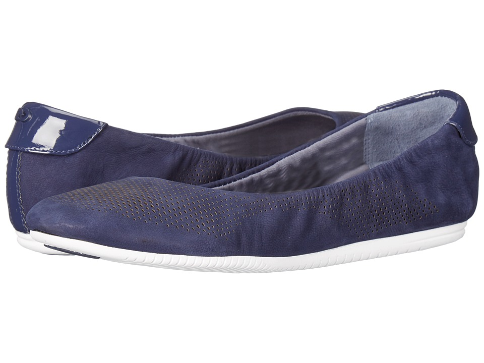 Cole Haan - 2.0 Studiogrand Convertible Ballet (Marine Blue Nubuck/Patent/White) Women