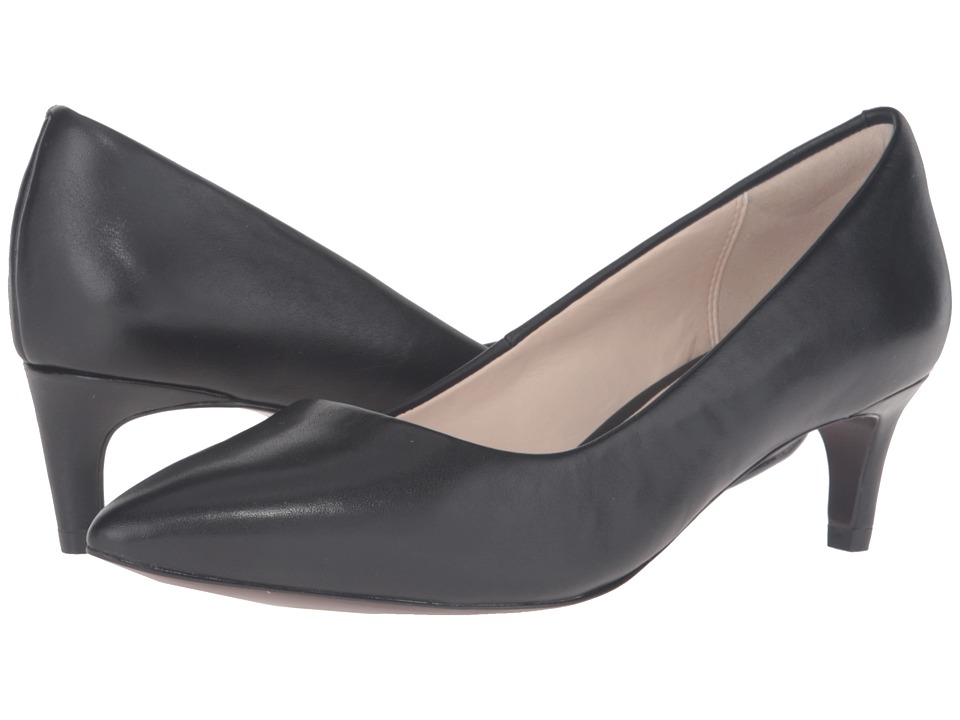 Cole Haan - Amelia Grand Pump 45mm (Black Leather) Womens Shoes
