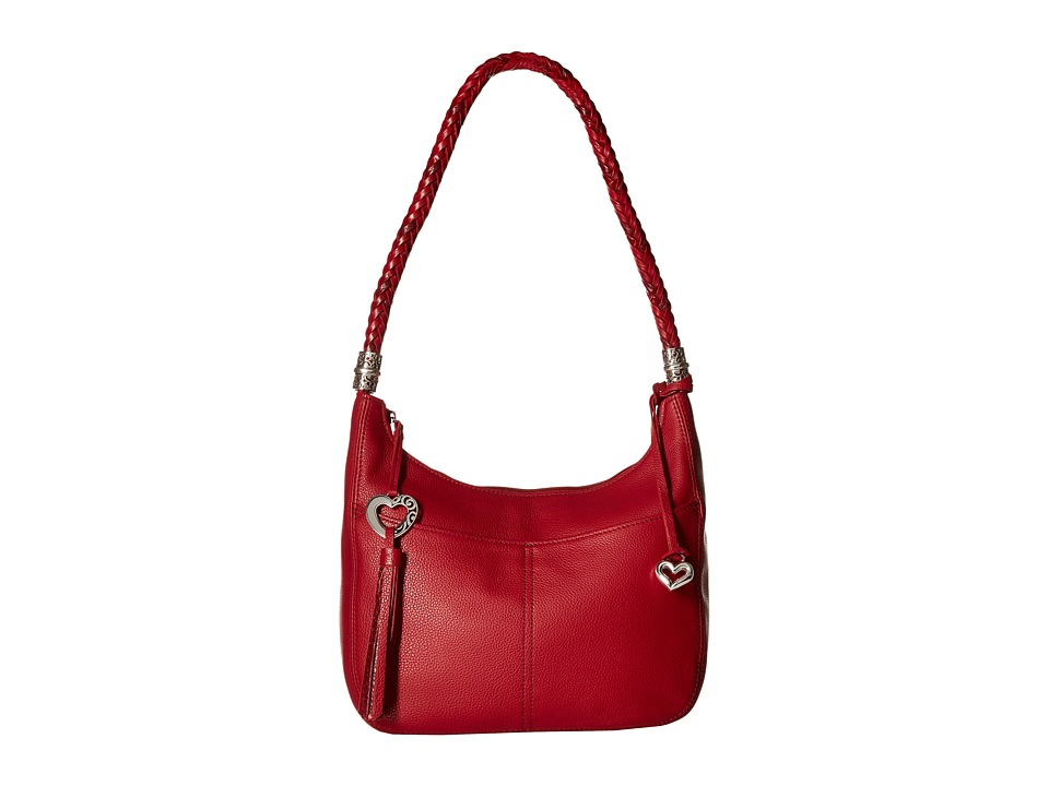 Brighton - Barbados Ziptop Hobo (Lipstick) Hobo Handbags