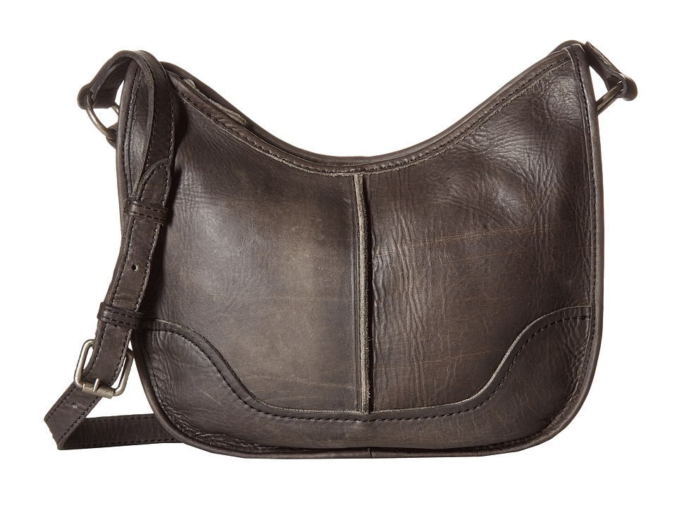 Frye - Cara Saddle (Smoke Washed Oiled Vintage) Hobo Handbags