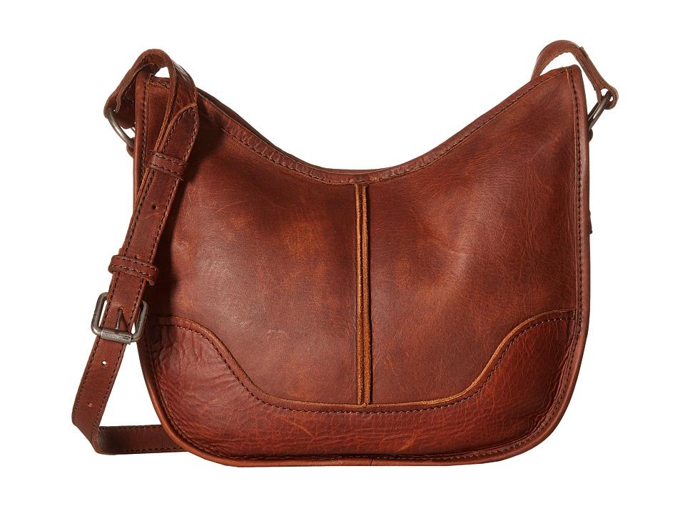 Frye - Cara Saddle (Cognac Washed Oiled Vintage) Hobo Handbags