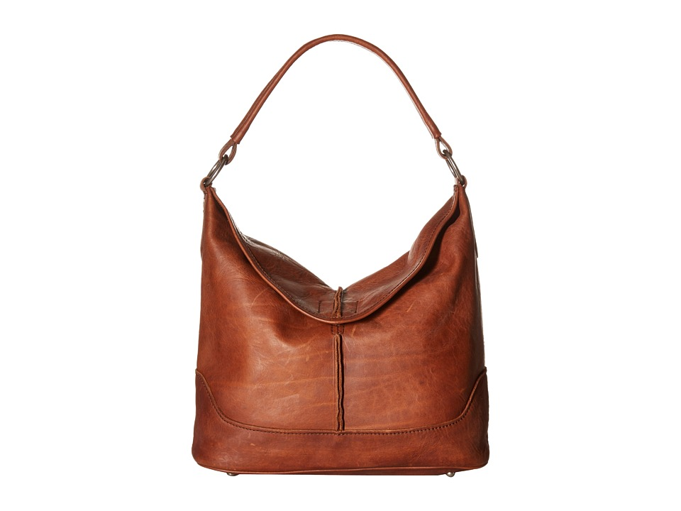 Frye - Cara Hobo (Cognac Washed Oiled Vintage) Hobo Handbags