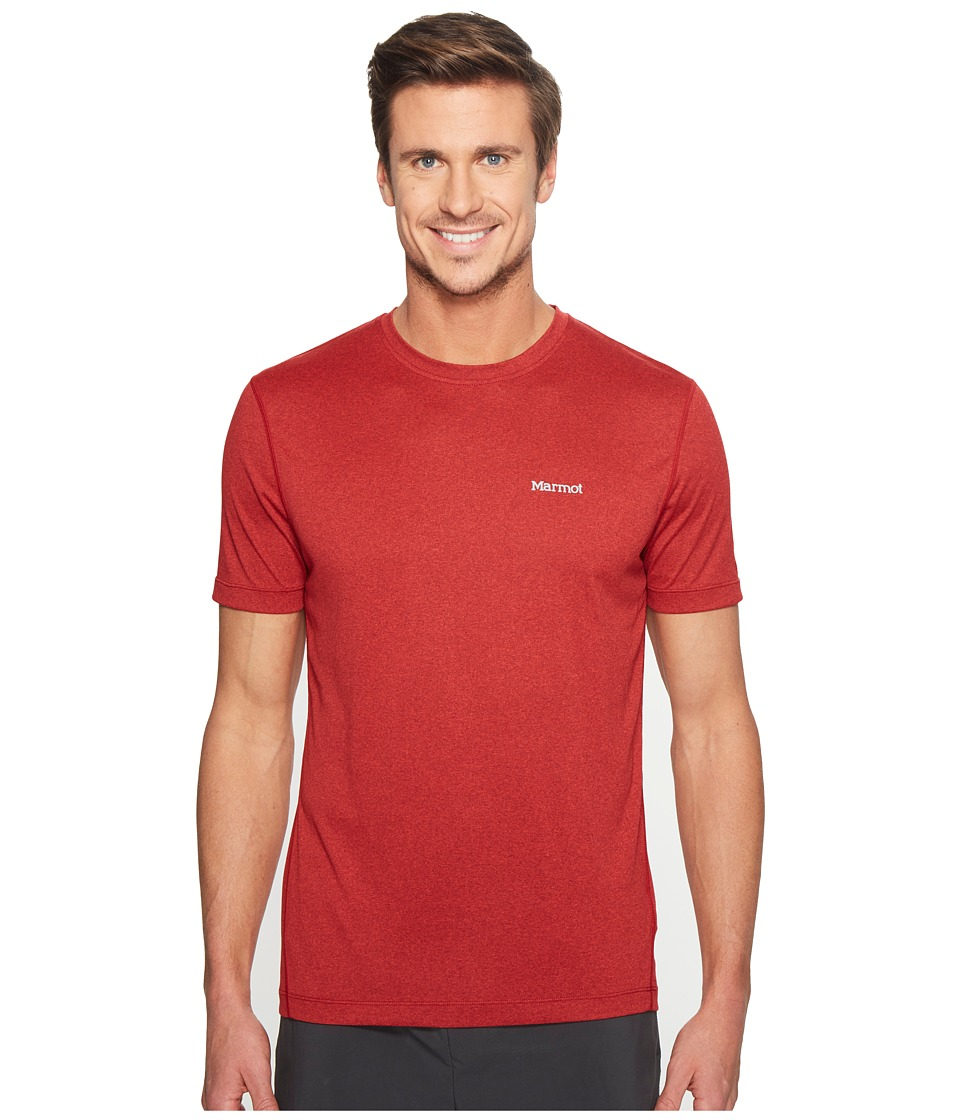 Marmot Conveyor S/S Tee (True Team Red Heather) Men