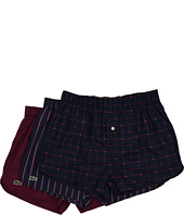 Lacoste - Authentics Signature Print 3-Pack Woven Boxers