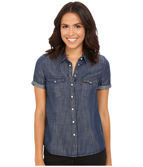 Levi 39 s womens short sleeve western shirt at for Levi s short sleeve shirt