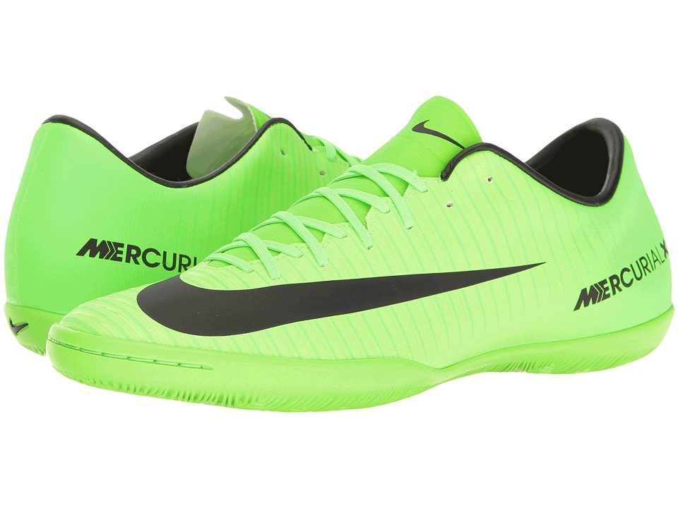Nike - Mercurial Victory VI IC (Electric Green/Black/Flash Lime/White) Mens Soccer Shoes