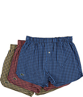 Lacoste - Authentics Gingham Heather Woven Boxers