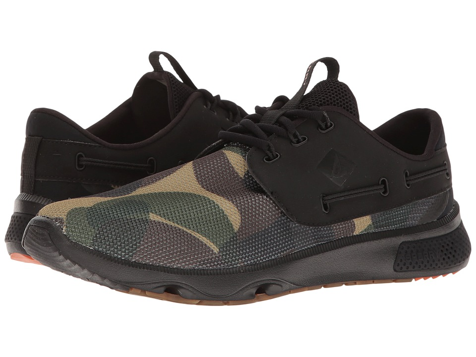 Sperry 7 Seas 3-Eye (Black Camo) Women