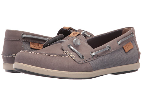 Sperry Coil Ivy Leather Canvas - Grey