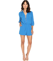 Adelyn Rae - Woven Long Sleeve Romper