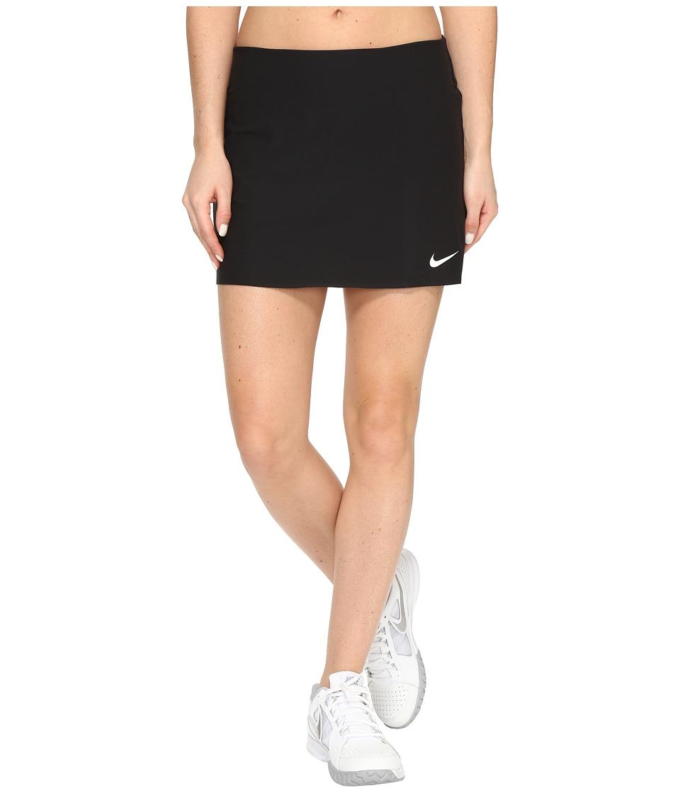 Nike Court Power Spin Tennis Skirt (Black/White) Women