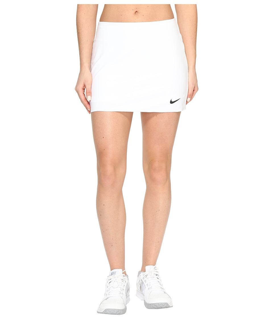 Nike Court Power Spin Tennis Skirt (White/Black) Women