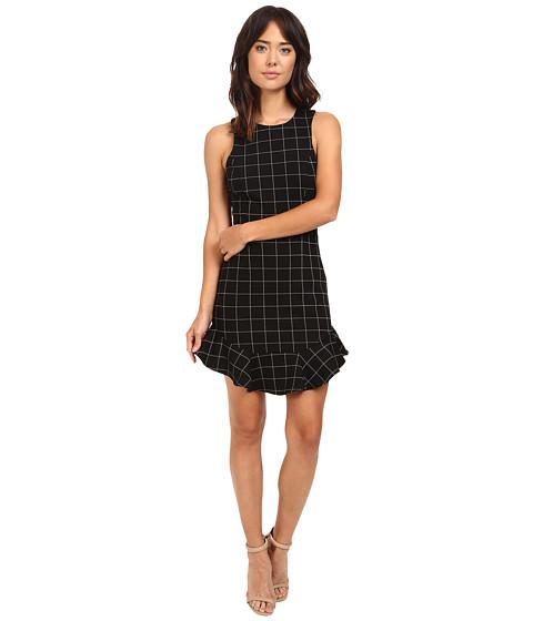 Adelyn Rae Knit Plaid Halter Mini Dress