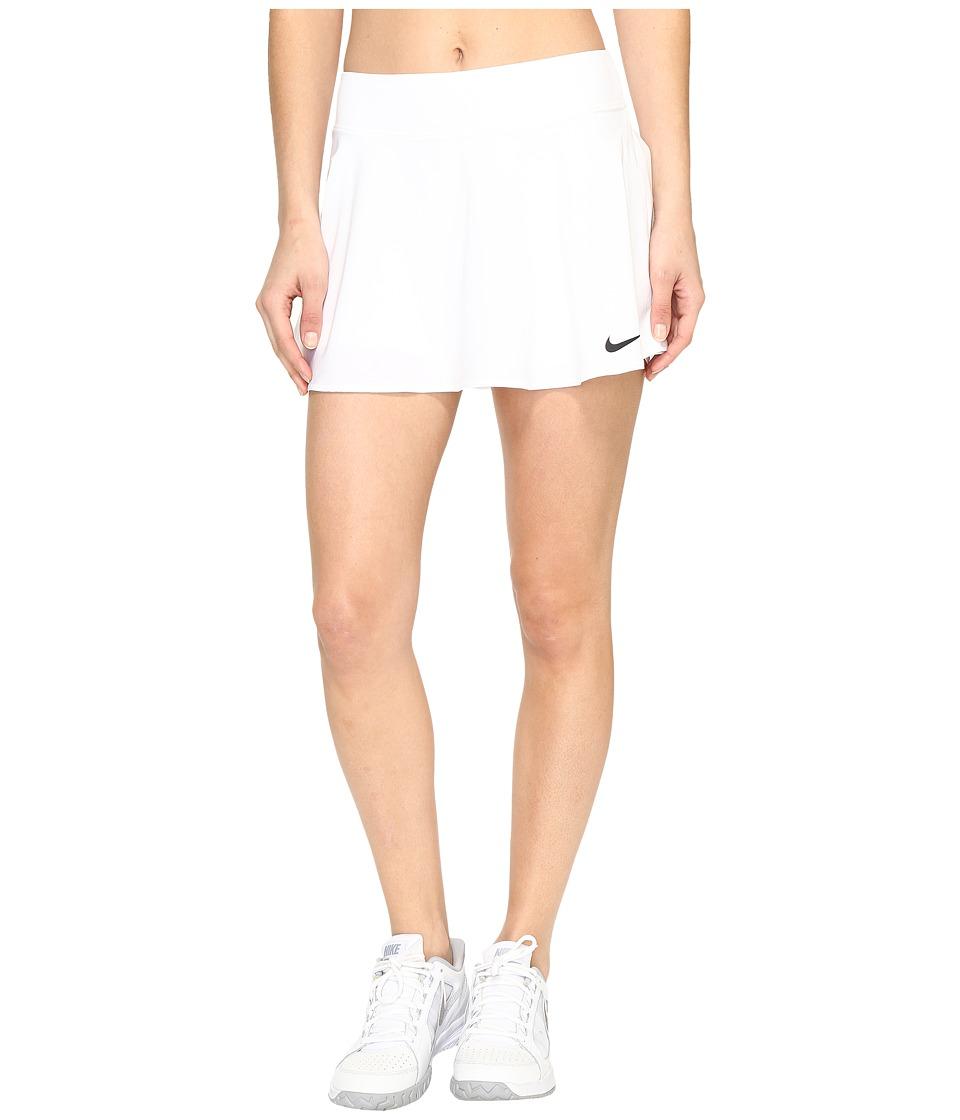 Nike Court Tennis Skirt (White/Black) Women