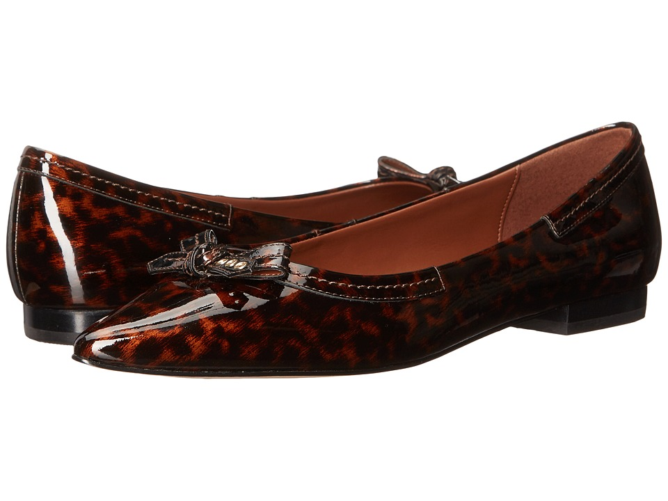 Cole Haan - Alice Bow Skimmer (Tortoise Patent) Women