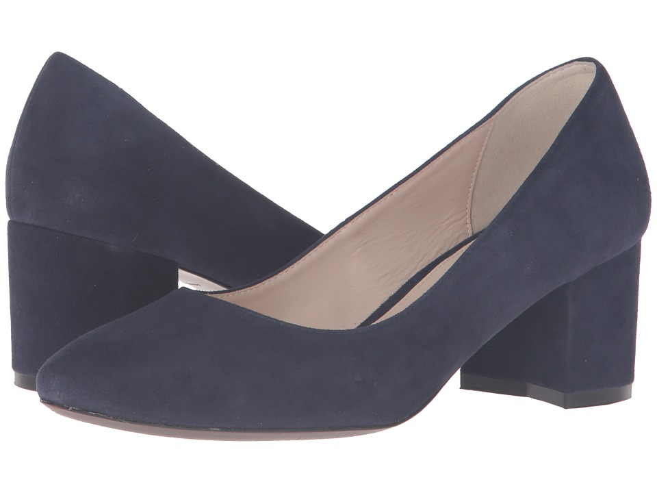 Cole Haan - Eliree Pump 55mm (Marine Blue Suede) Women