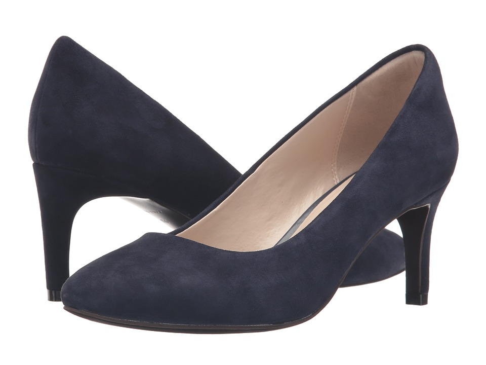 Cole Haan - Clara Grand Pump 65mm (Marine Blue Suede) Women