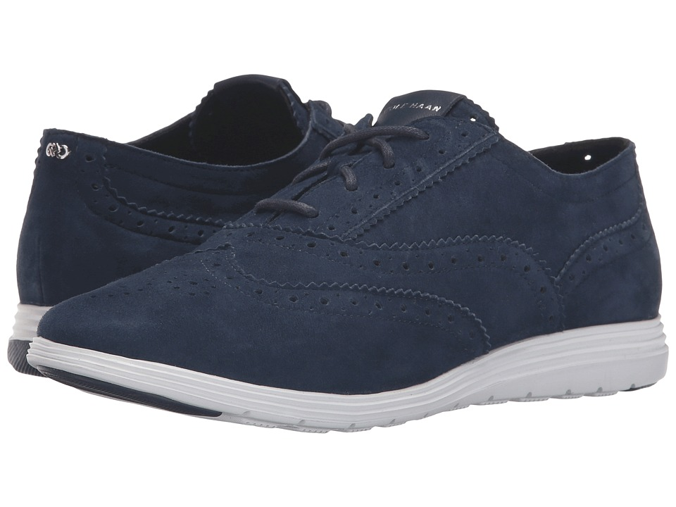 Cole Haan - Grand Tour Oxford (Blazer Blue Suede/Optic White) Women