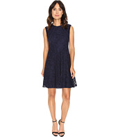 London Times - Swirl Lace Cap Sleeve Full Skirt