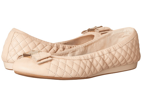 Cole Haan Tali Bow Quilted Ballet - Nude Quilted Leather