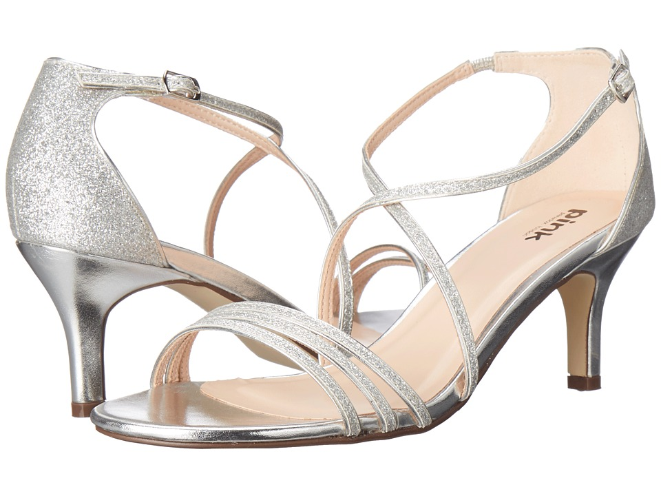Paradox London Pink - Isla (Silver Glitter) Women's Shoes