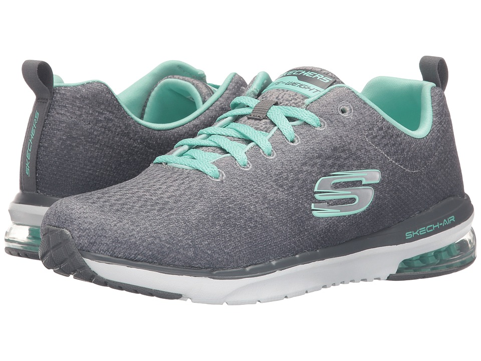 SKECHERS - Skech-Air Infinity - Modern Chic (Gray/Mint) Womens  Shoes