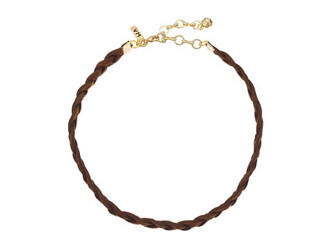 Vanessa Mooney Braided Suede Choker Necklace - Brown