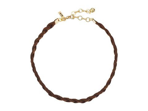 Vanessa Mooney Braided Suede Choker Necklace - Brown