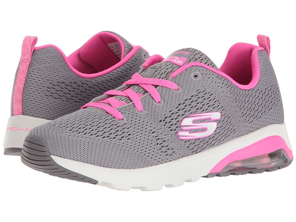 SKECHERS - Skech-Air Extreme - Evolver (Gray/Pink) Womens  Shoes